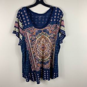 Lucky brand boho graphic T-shirt